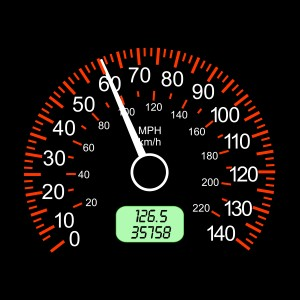 The car speedometers for racing a design.